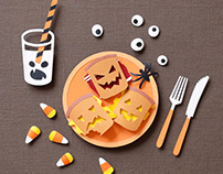 Halloween Food | Paper art