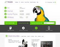 Telus –homepage redesign concept