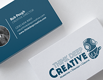Print Design | Think Deep Creative Business Cards