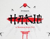 Hakio – Japanese Brush Font