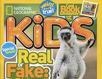 National Geographic Kids April 2017 gag cartoons!!
