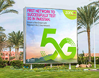 Poster Design | Successfully Test 5G | ZONG 4G