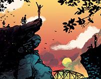 Poster Ponte Brolla Cliff Diver