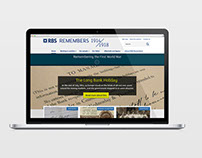 RBS Remembers | WWI remembrance website concepts