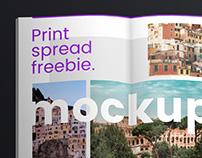 Print Spread Mockup — Freebie