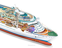 Freedom of the Seas, breakdown illustration.