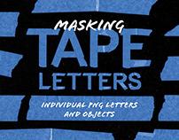 Masking Tape Letters