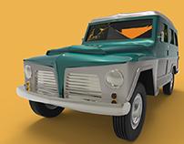 Rural Willys | Moldelagem 3D
