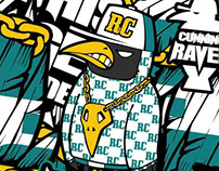 Hiphop crow 'RAVEN'  Snowboard pants application