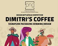 DIMITRI'S COFFEE Design Battlefield Signature Packaging