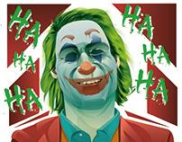 Joaquin Phoenix's Joker illustration