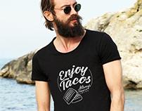 Création t-shirt logo Enjoy Tacos Loolye Labat