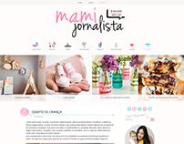 Layout para o blog Mami Jornalista.