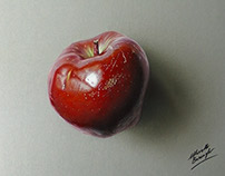Just a magic apple - drawing
