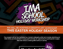 IMA School Holiday Workshop Branding for IMA