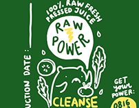 "Branding Identity ""Raw Power"" Homemade Juice"