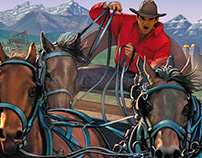Poster Illustration: The Calgary Stampede