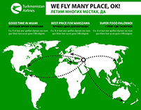 Turkmenistan Airlines | Fake, satirical brochure