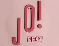 JO! FEST - 3D lettering poster.