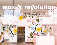 Wall Murals for Wax Revolution Puebla Mexico