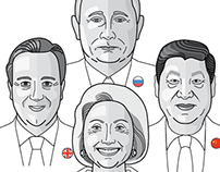 Illustrations of world leaders