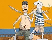 Steven Seagull and Captain / Illustration