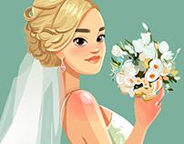 Birthday illustration for Bride
