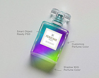 Free Scent / Perfume Bottle Mockup PSD