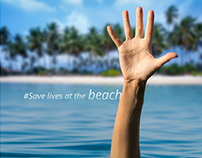 #SaveLivesAtTheBeach campaign posters