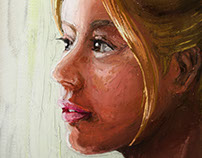Portrait painting with Wetbrush