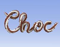 Chocolate chip ice cream typography