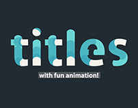 Logo & Titles Minimal Animation - for After Effects