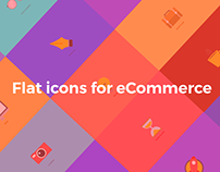 Flat icons for eCommerce
