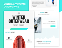 Outerwear Landing Page - Concept