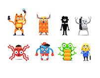 Characters Mixed Set