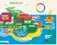 Color Island. Infografía escalas de color/ Infographic