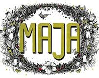 MAJA / hand lettering