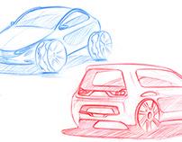 Car sketchs