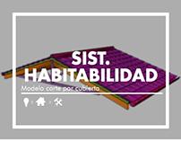 Sist. Habitabilidad: Corte por cubierta / ARQU-2320C