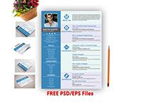 Free Resume Design PSD/EPS