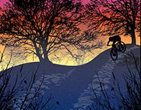 Highland MTB Trail Poster