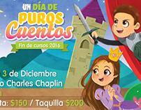 """""""Un día de puros cuentos"""" poster"""