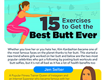 Butt Excercise Infographic