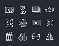 Photography & Camera Function Icons