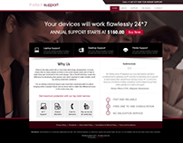 Online Tech Support Website Design