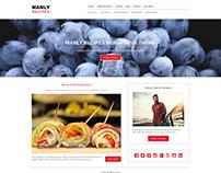 Manly Recipes WordPress Theme