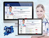 The Otorhinolaryngologist Website Home Page Design