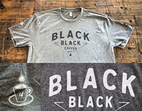 Black Black Coffee's 1 year anniversary T-shirt design.