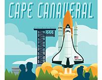 Cape Canaveral Travel Poster