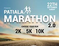 Punjab Patiala Marathon Poster design